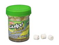 GULP! ALIVE TROUT PELLET 9MM 2.1OZ GARLIC WHITE (ПЕЛЕТС)